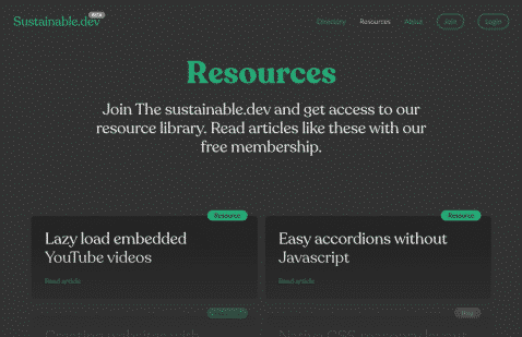Overview of the-sustainable.dev