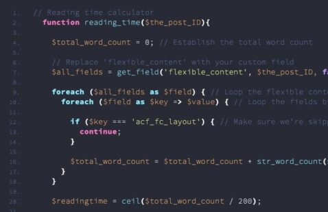 How to create a reading timer from WordPress content
